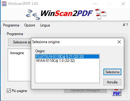Selezione scanner