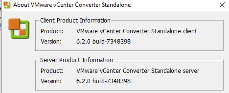 Versione vmware converter